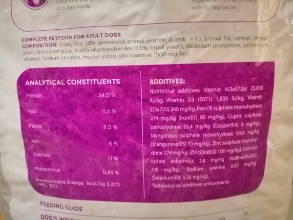 LaVital Maxi Adult Ingredients